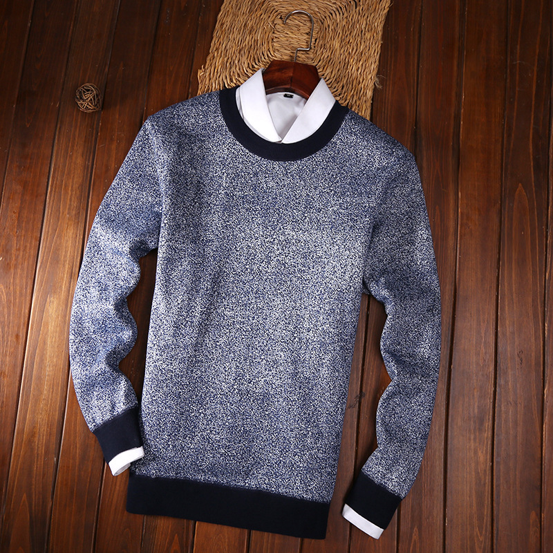 Jbersee Winter Brand Clothing Sweater Fashion Men O-Neck Slim Fit Winter Long Sleeve Mens Knitted Pullover Cashmere Sweater Men