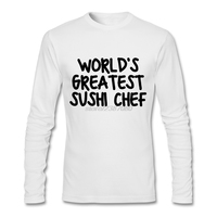 2017 Fashion worlds greatest sushi chef Shirts Men Long Sleeve Popular T Shirts Cheap Wholesale Full Sleeve For Men T-Shirts