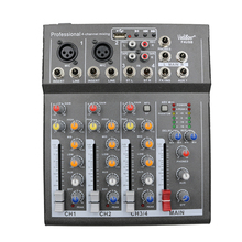 цена на Vadiboer F4 4 Channel F4 Mixer For Stage Home Karaoke DJ 48V Phantom power USB echo voic effect audio