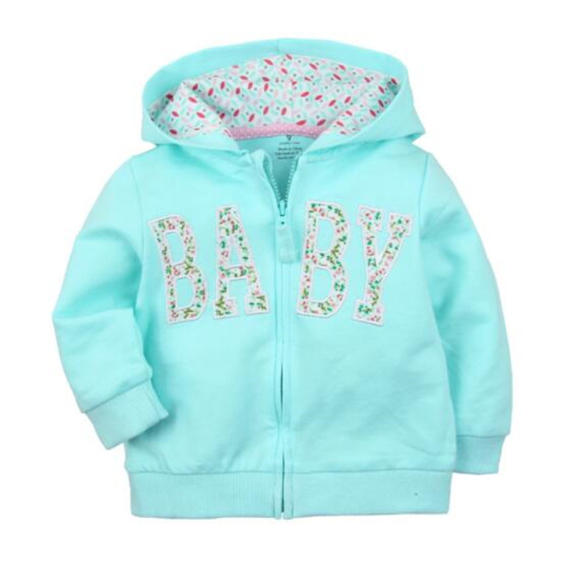 2018 baby boys girls hooded sweatshirts cotton cartoon tops truck flower whale out wear kids clothes for 9m-3years 5
