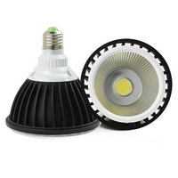 Free Shipping E27 COB 20W PAR38 LED light AC85 265V input USA driving IC 30pcs/lot 5 years warranty