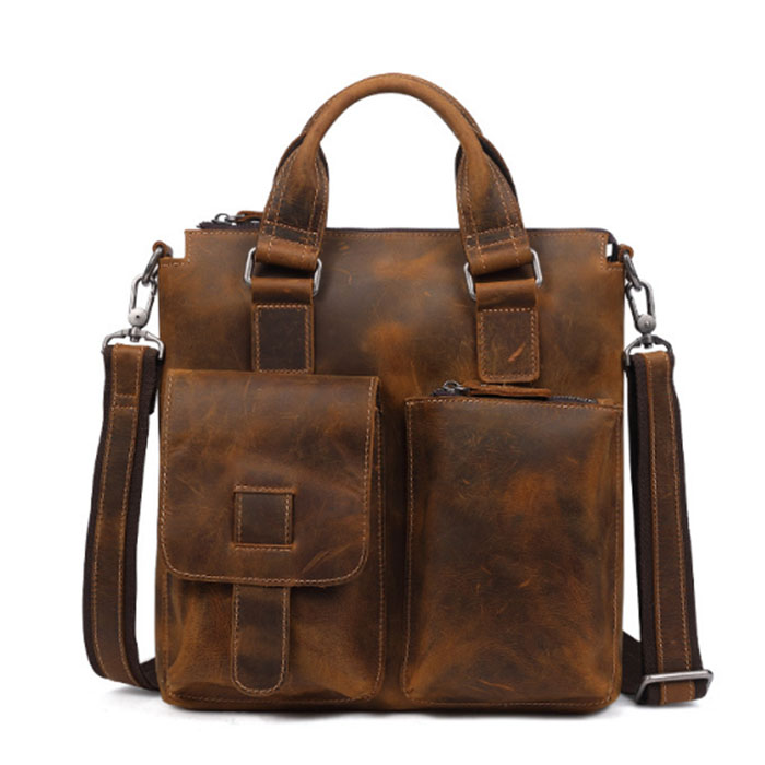Men Messenger Bags Vintage Crazy Horse Genuine Leather Men Bag Shoulder Crossbody Bags Small Male Bag Leather Handbags coffee new t2858s1 bko c10791h02 touch screen perfect quality