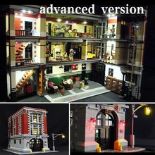 цены Only Led Light Set For Lego 75827 Building City Street Ghostbusters Firehouse Headquarters Compatible 16001 Blocks LED Toys Gift