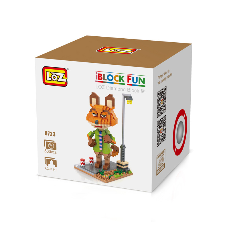 LOZ Mini blocks Zootopia DIY Building Bricks Nick Wilde 3D Model TOY Judy Hopps Micro Blocks Kids toys Xmas Gifts 9722-9725 стоимость