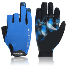 Fishing Gloves 1Pair/Lot Practical 3 Finger Cut Design M L Outdoor Breathable Gloves Neoprene&PU Material