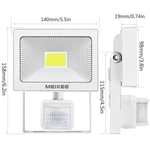 Image 2 - 20W LED Motion Sensor Flood Light 2000lm IP66 Waterproof LED Floodlight Outdoor Spotlight for Garden Patio
