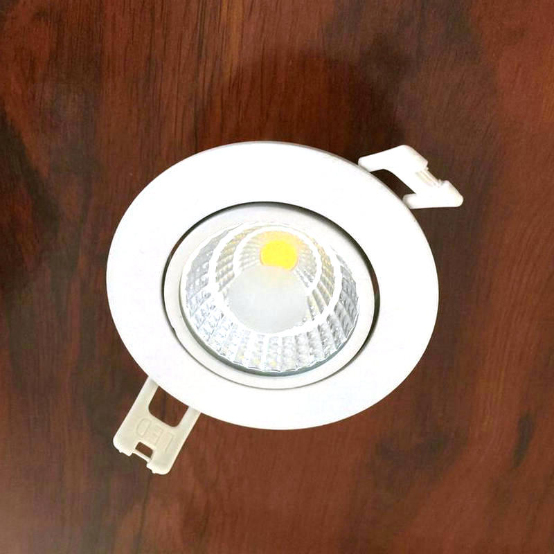 Free Shipping 7W COB LED Downlight /LED COB Ceiling Down Light/Cold White/Warm White/ Recessed Kitchen Cabinet Lamp CE/ROHS wbr 0007 cob 680 750lm 7w 85 265v rotatable led warm white ceiling down light cold forging aluminum