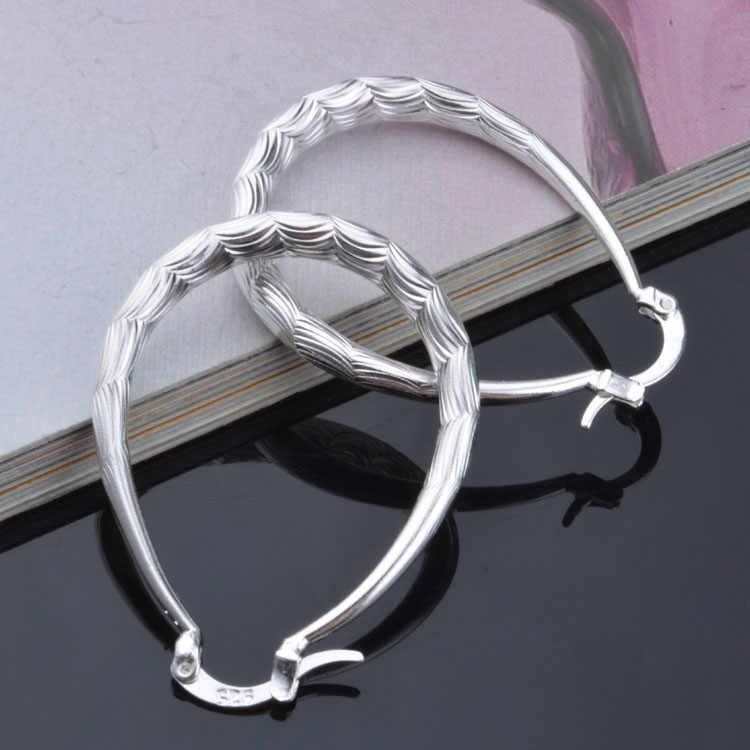 נחש בטן צורת חישוק עגילי נשים עגיל עגילי 925 כסף סטרלינג תכשיטי חריש Brincos Brinco אהבה מתנה