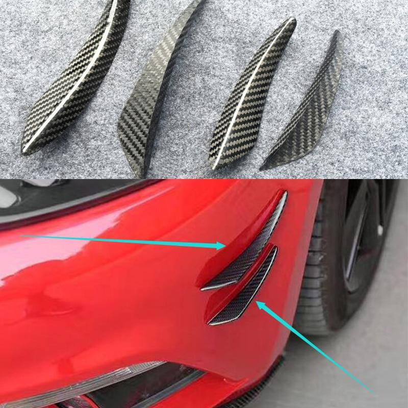 Carbon Fiber Front Bumper Lip Splitter Fins Body Spoiler Canard Valence Chin for AUDI A1 A3