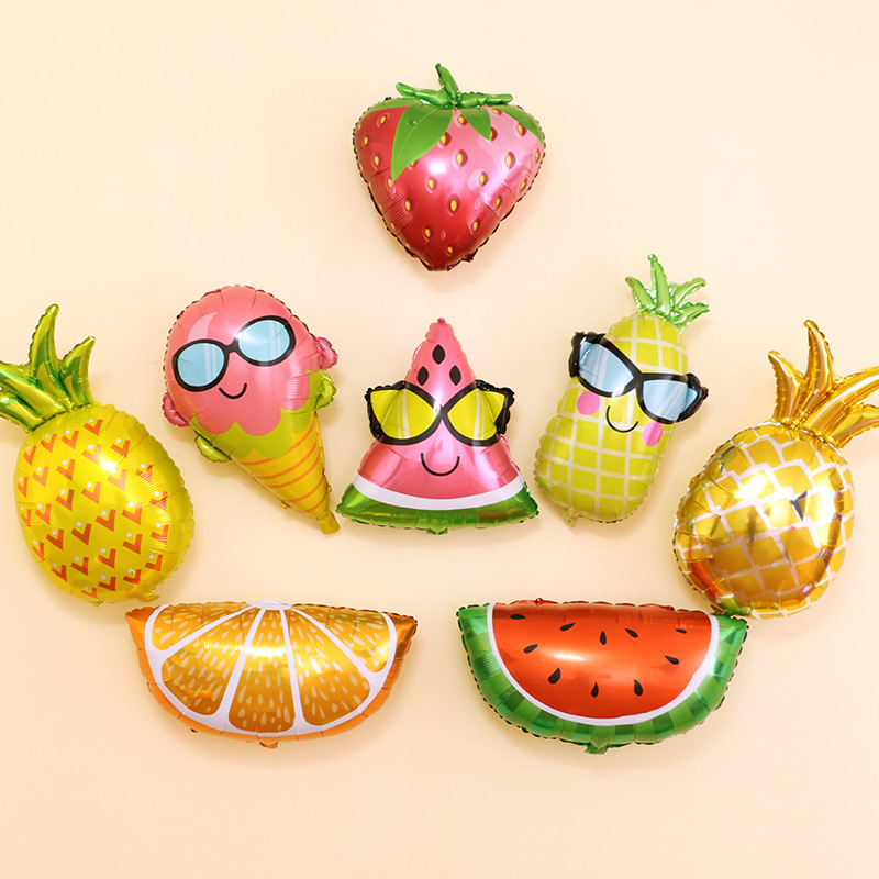 ICE CREAM PINEAPPLE CACTUS WATERMELON BALLOON SUMMER BEACH GARDEN PARTY DECOR