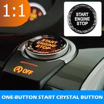New Replacement Crystal Car Engine Start Stop Button Cover for 1 Series F20 F21 5 Series F10 F11 BMW 3 Series F30 F31 2012-2018 image