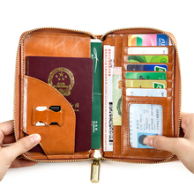 Fashion Card & ID Holders Men Genuine Leather Travel Passport Cover Case Document Holder Large Credit Card Holder Purse new lovely peter rubbit travel passport holder cover pu leather identity id card credit card holder bag document folder 14 9 6cm