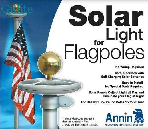 alto brilho bandeira 26 levou movido a energia solar poste de luz solar ao ar livre