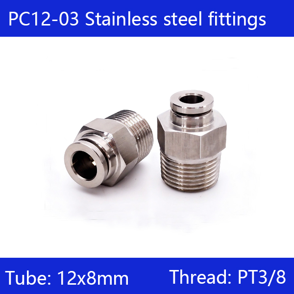 Free shipping 10 pcs/lot 12mm to 3/8 PC12-03,304 Stainless Steel Straight Male Connector Free shipping 10 pcs/lot 12mm to 3/8 PC12-03,304 Stainless Steel Straight Male Connector