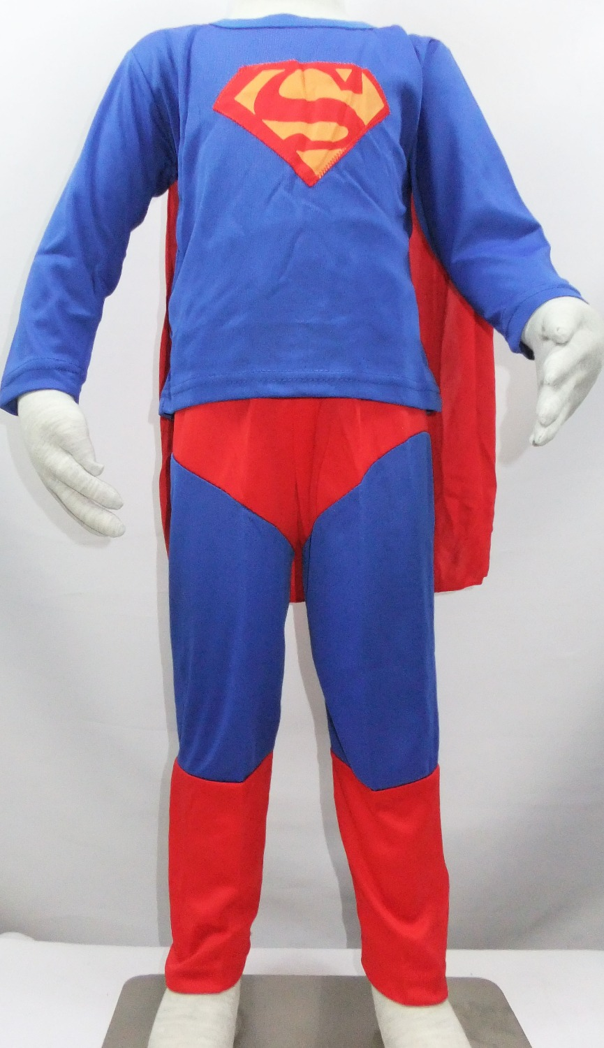 wholesal retail - Halloween Party costumes 3 - 7 Years kid superman Play clothes/Boy superman costume Cosplay T- shirt