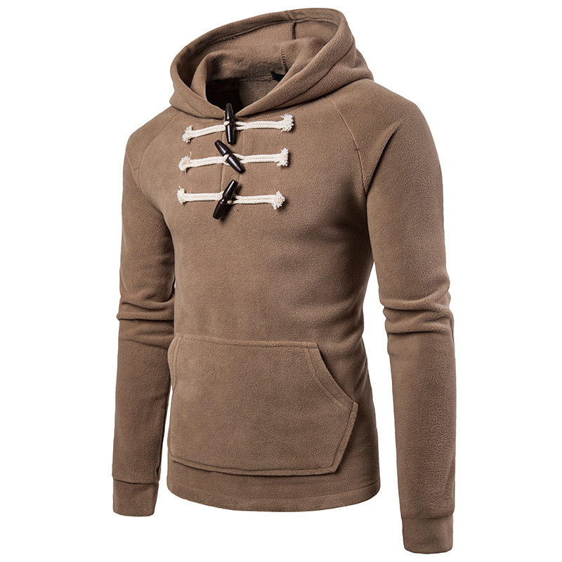 Fashion Hoodies Sweatshirt Long-Sleeve 3colour Mens Casual for Male Tops Chest-Button