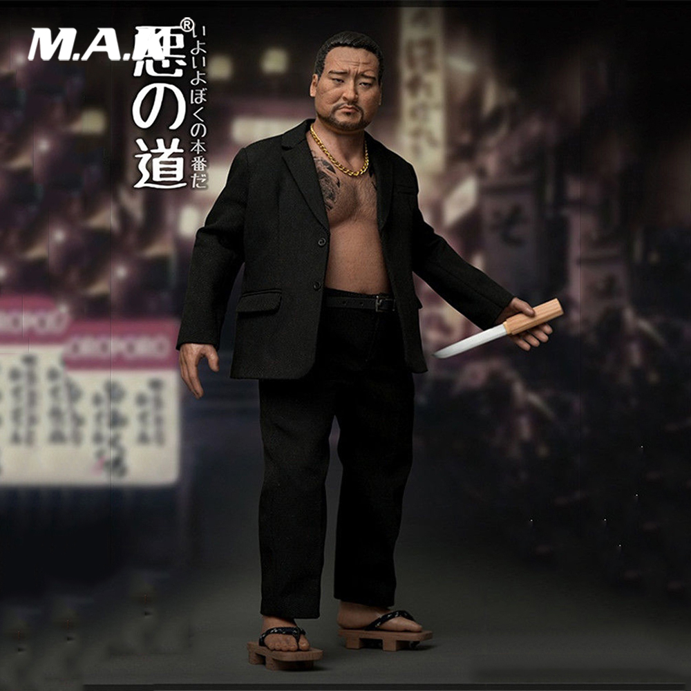 In Stock 1 6 Collectible Full Set AT026 Japanese Organized Crime Member Gangster Male Action Figure