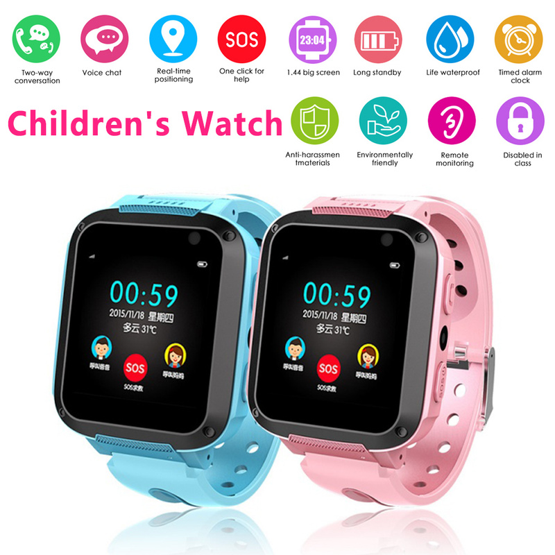 Smart Watch kids Anti Lost Child GPS Tracker SOS Smart Monitoring Positioning Phone Kids GPS Baby Watch Compatible IOS & Android
