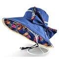 2017 Nueva Moda sombrero sombreros de verano para mujeres de sol y gorra viseras Casual Bowknot Panamá playa sombrero chapeu feminino de Doble propósito tapas