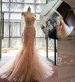 Venda quente Vestido de Noiva Sereia 2017 Querida Applique País Ocidental Do Vestido de Casamento Do Vintage vestido de Noiva Custom Made