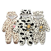 Baby Clothing Flannel Baby Jumpsuit Wholesale 2018 Autumn Knitted Baby Boys Girls Clothes Set Newborn Baby