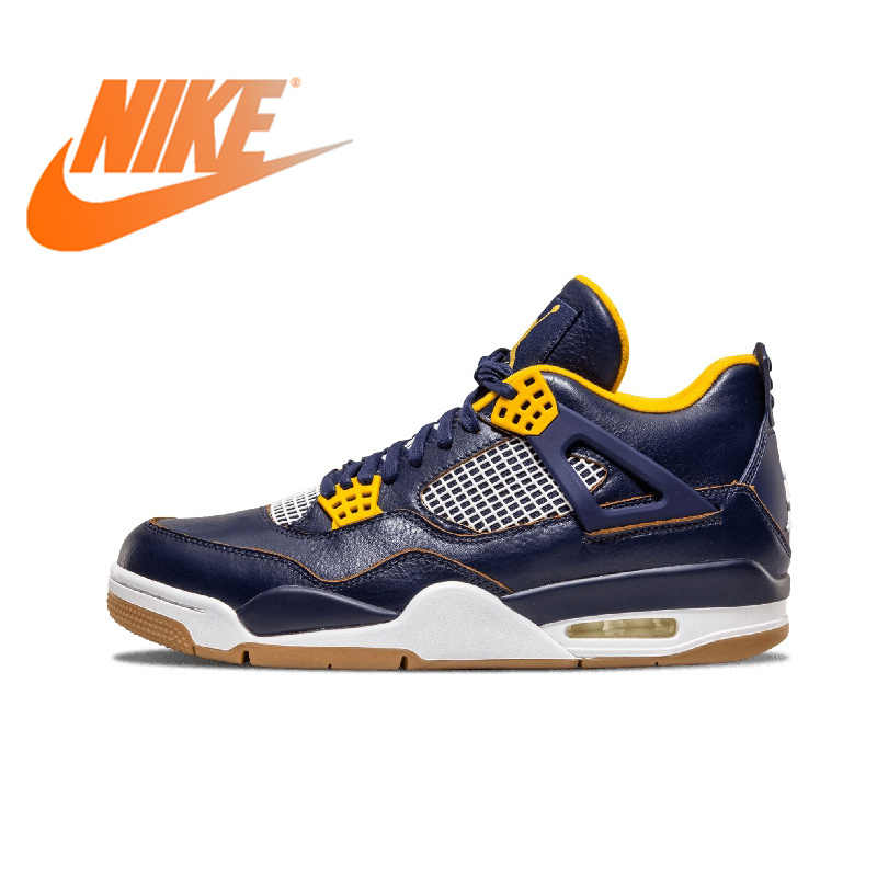 hot sale online 342a9 6ef92 Official Original Nike Air Jordan 4 Dunk From Above AJ4 Men's Basketball  Shoes Medium Cut Breathable Thread Sneakers 308497-425