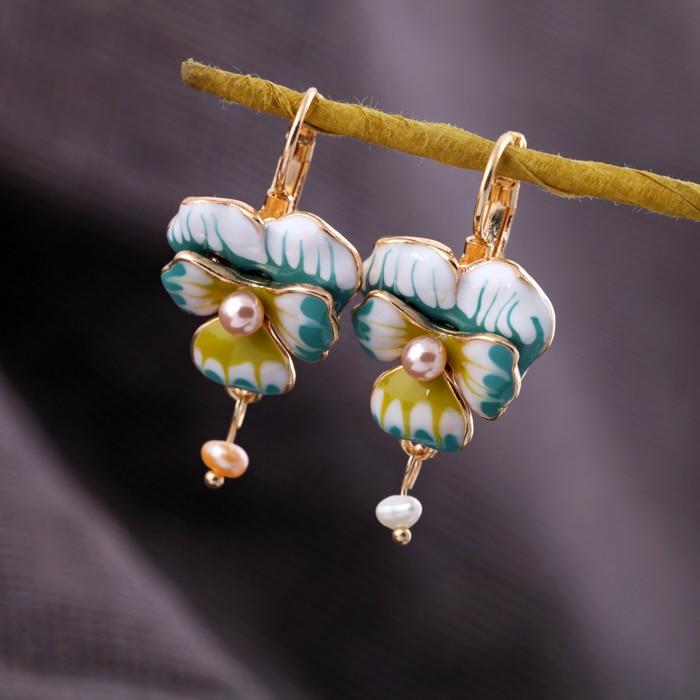 Dienvidu Sorean stila zelta krāsas aksesuāri Modes ziedu radīti - Modes rotaslietas - Foto 4