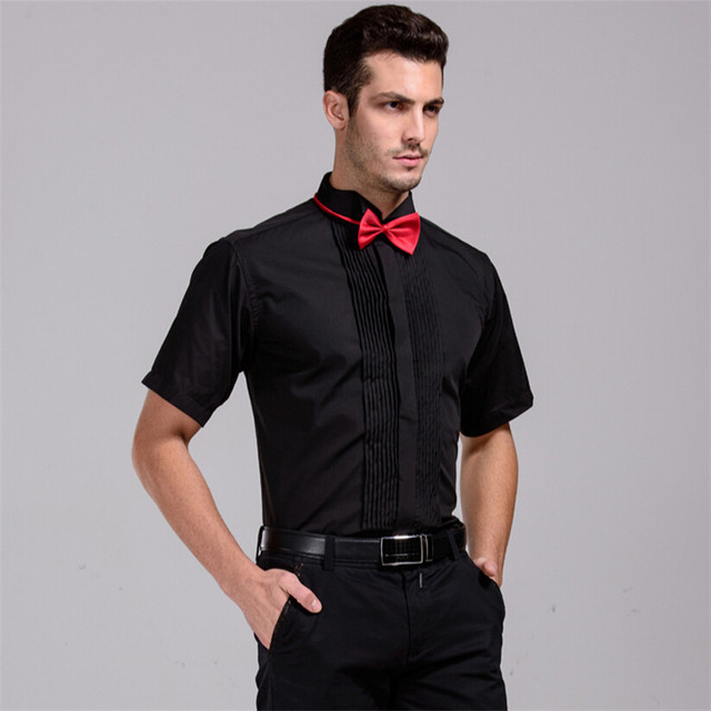 Hombres Camisa de Esmoquin de La Boda Mejor Venta camisas de Manga corta camisa de 4 colores 5501-4 XS Sml XL XXL XXXL