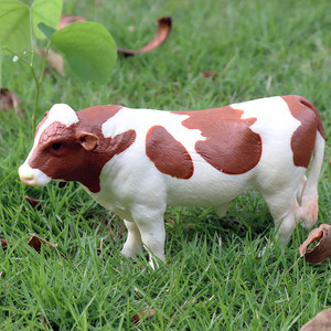 Image 4 - Oenux Original Farm Animals Model Simulation Cattle Cow Calf Bull OX PVC Animal Action Figure Collection Educational Toy For Kid