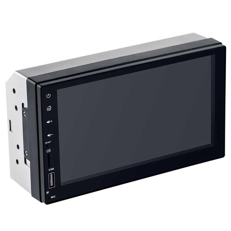 7 אינץ 2 דין Dvd לרכב רדיו מולטימדיה נגן Gps ניווט, hd Bluetooth סטריאו רדיו Fm Mp3 Mp5 נגן-7019