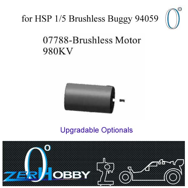 RC CAR SPARE PARTS BRUSHLESS MOTOR 980KV AND 150A ESC FOR HSP 1/5 EP BUGGY 94059 (part no. 07788, 07794)
