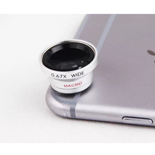 Super Optical Magnetic 2 in 1 0.67X Wide Angle+Macro Lens Universal Mobile Phone Camera