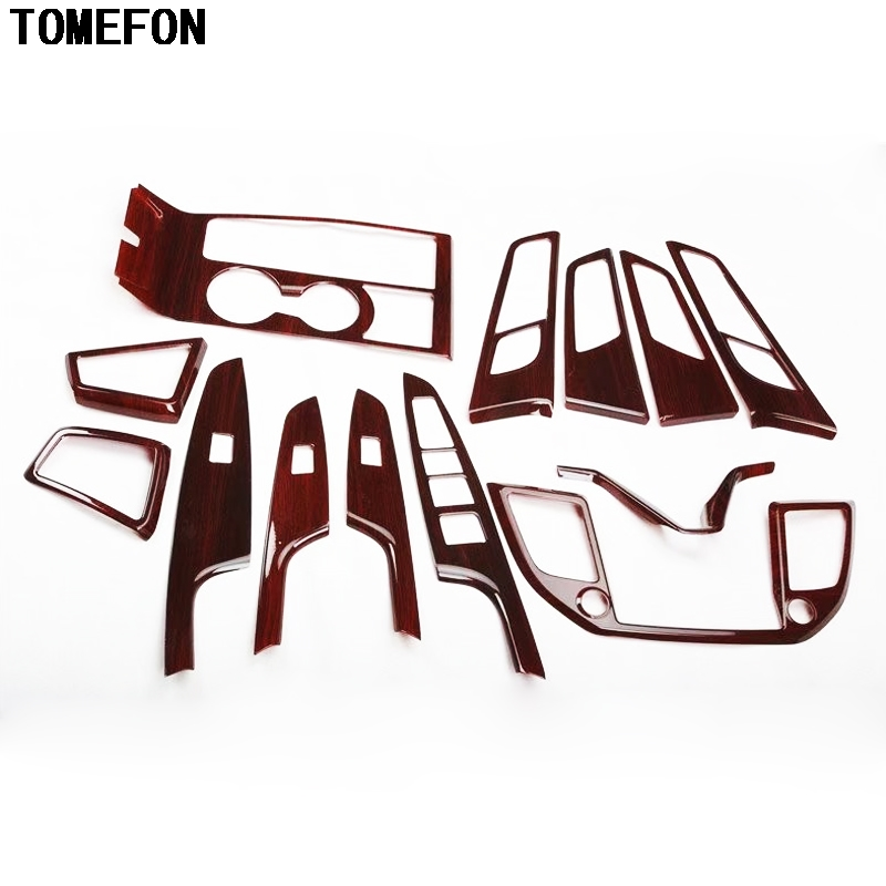 TOMEFON For Hyundai Tucson 2015 2016 ABS Wood Paint Interior Inner Handle Panel AC Vent Door Window Bottons Steering Decoration