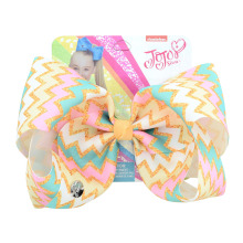цена на JOJO Siwa Accessory Fashion 8 Inch Large Handmade Hair Bow Grosgrain Ribbon Kids Cheer Bows With Alligator Clips For Kids Girls