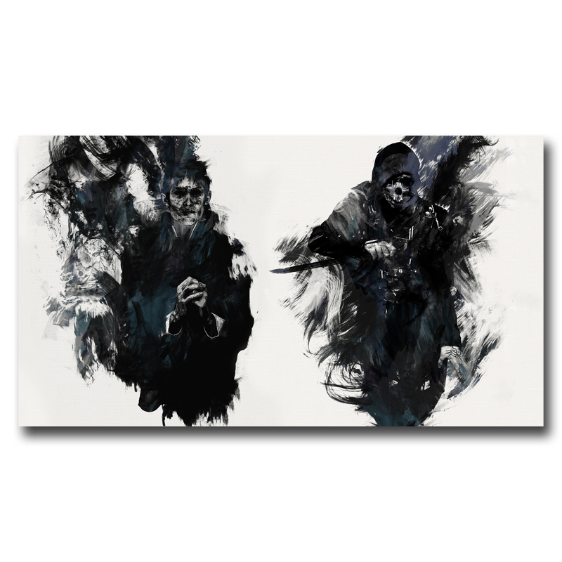 Foocame Dishonored The Outsider Video Game Art Silk Poster Prints