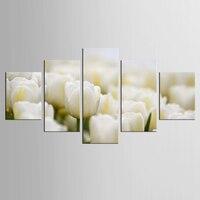 5 جدار الفن قماش الرسم قطعة/مجموعة الورود البيضاء قماش الطباعة جدار صور لغرفة المعيشة الديكور اللوحة