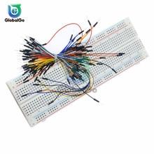 цена на 3.3V/5V MB102 Breadboard Power Module MB-102 830 Points Solderless Prototype Bread Board Kit 65 Flexible Jumper Wires