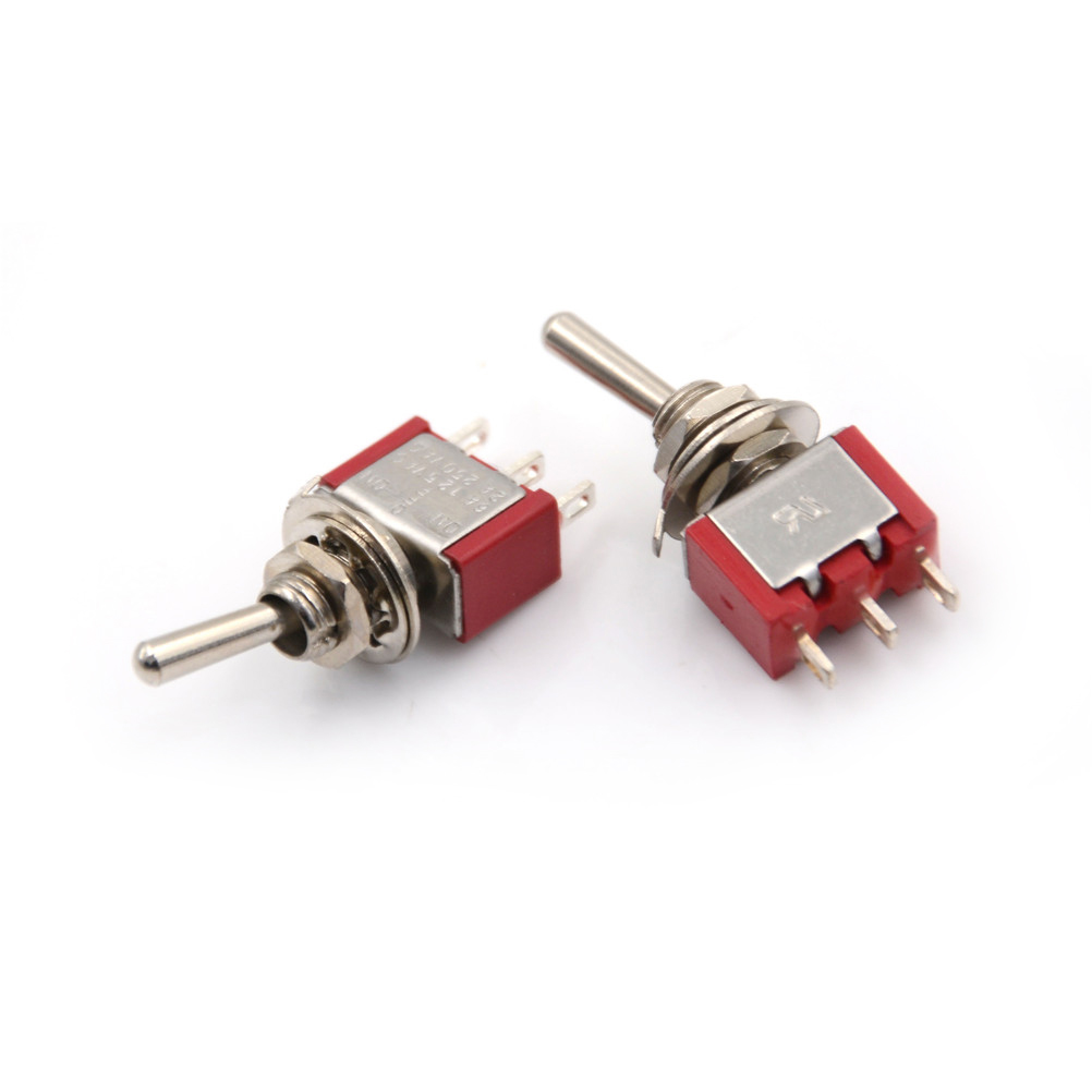 Red 3 Pin On Off On 3 Position Spdt Mini Momentary Toggle