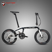 Twitter F2.0 BMX Carbon Folding Bike 20 Inch Wheels 22s 18s 16 Speed 2400 8s R3000 9s R7000 11s Portable Hydraulic Disc Bicycle