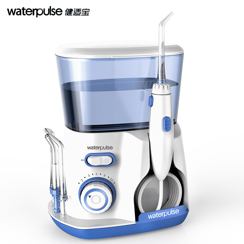 Teeth Washing Oral Irrigator Dental Spa Dental Water Flosser with 5 Tip & 800ml Water Tank for family use removal of plaque pro teeth whitening oral irrigator electric teeth cleaning machine irrigador dental water flosser teeth care tools m2