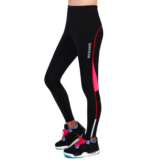 WOSAWE Pants Bicycle Long Pants Shorts Sportswear Women's Bike Cycling Riding Clothing Padded Tight Tights Trousers