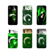 Pakistan Flag Banner Moon Star Art For Samsung Galaxy S4 S5 MINI S6 S7 edge S8 S9 S10 Plus Note 3 4 5 8 9 Cell Phone Case Covers