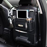 high quality!!Leather Car Seat Back Folding Portable Storage Box Multi-Use Car back seat organizer Portable Tissue Storage Bags