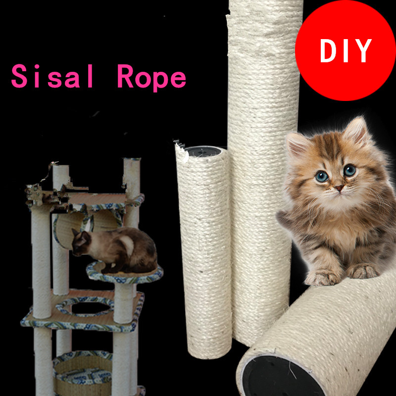 Sisal Rope For Cat Tree Cat Climbing Frame Diy Cats Scratching Post Toys Making Desk Legs Binding Rope For Cat Sharpen Claw