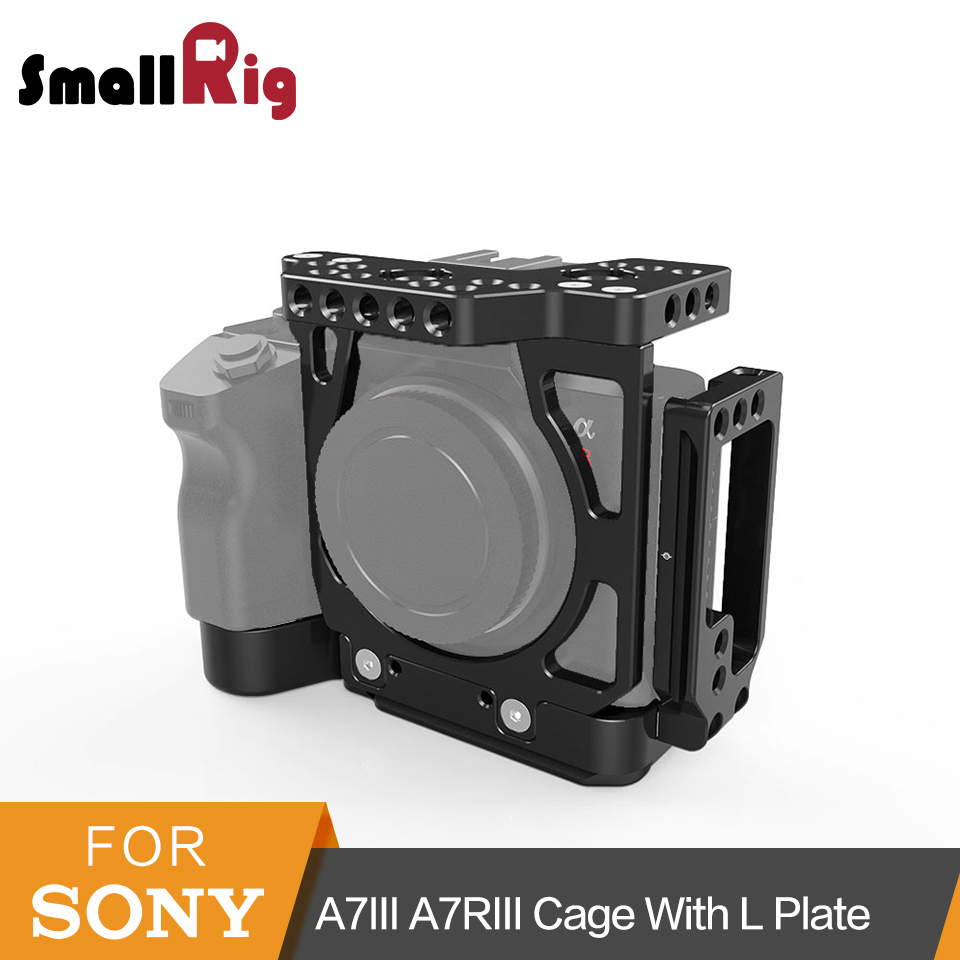 SmallRig a7iii Half Cage with Arca L Bracket Plate for Sony A7III A7RIII Quick Release Cage