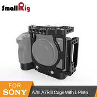 SmallRig a7iii Half Cage with Arca L-Bracket Plate for Sony A7III A7RIII Quick Release Cage With Arca-Swiss L Plate Kit -2236
