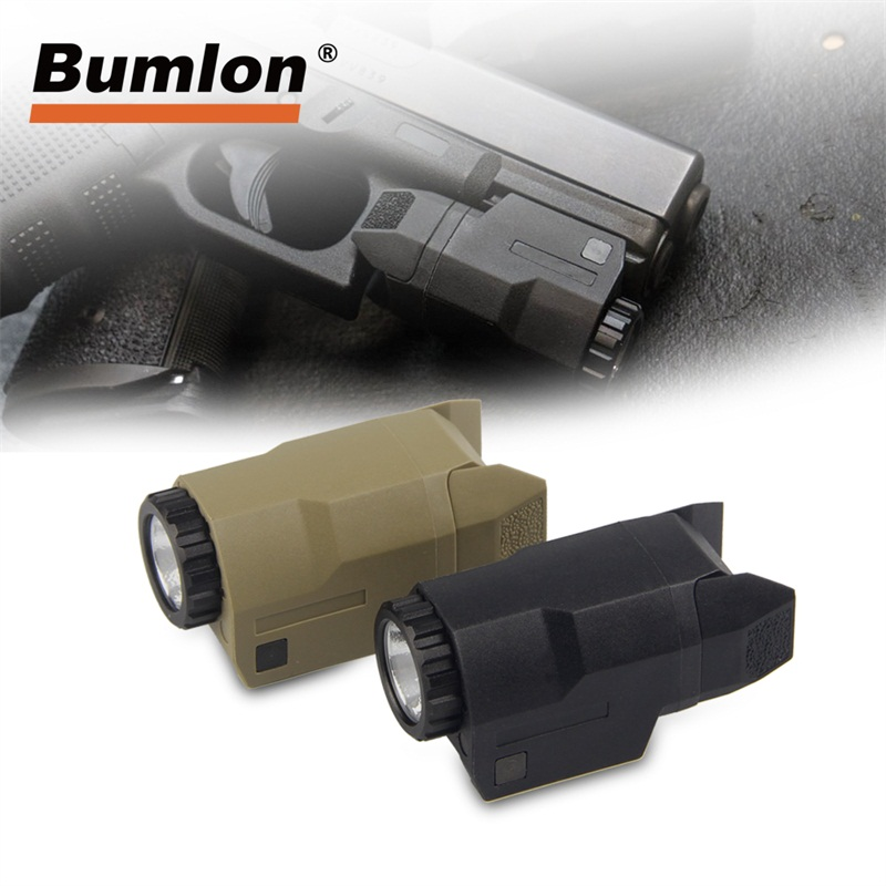 Luz tático para Pistola Glock Luz Constante/Momentâneo/Strobe 200 Lumens LED Branco arma Montada para Glock Completo pistola tamanho