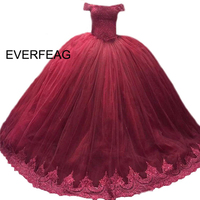 2020 Ball Gown Quinceanera Dresses Burgundy Royal Blue Lace Sweet 16 Dress Debutante Vestidos De 15 Anos vestido rosa
