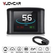VJOYCAR automóvil viaje en el ordenador de a bordo del coche Digital GPS OBD2 OBD conducción pantalla de ordenador velocímetro medidor de temperatura de la Hud