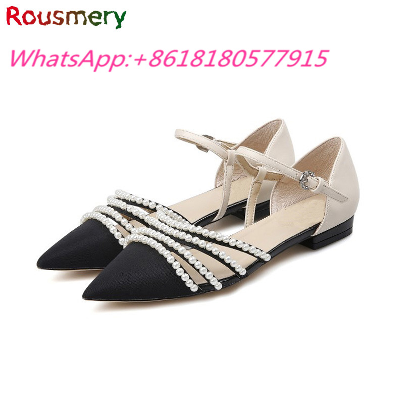 ФОТО Hot Sales Comfortable Woman Flat Heels Sandals Summer Plus Size Fashion Pearl Zapatos Mujer Rome Style Soft Sandalias Mujer